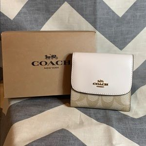 Coach Brand New Small Wallet in Signature Canvas
